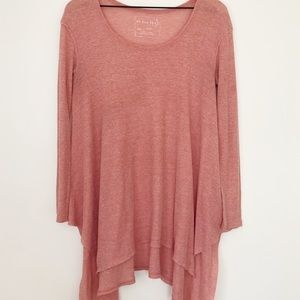 Free people coral long sleeve tunic sz.s